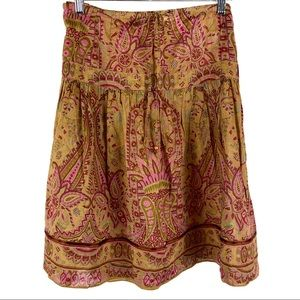 Sundance boho floral paisley skirt